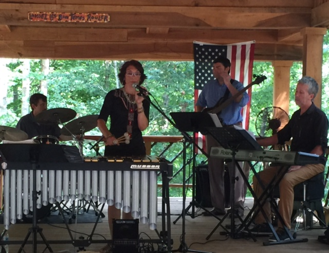 With Todd London on drums, Doug Russo on bass, and Kevin Sanders on keys at Amber Falls 2016