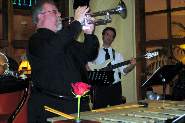 Rod Noftsger (trumpet) and Max McKellar (bass)