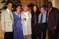 The band with visiting master xylophonist, Bernard Woma of Ghana