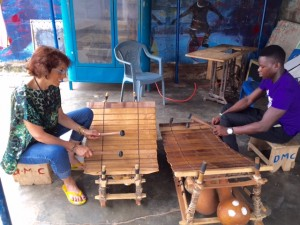 Mallet workout at Dagara Music Center in Ghana, Africa 2016