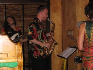 Max McKeller bass and Andy Robinson alto