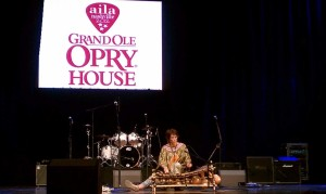 On the Grand Ole Opry stage in 2012