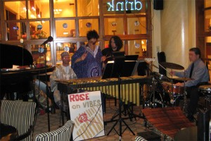 The band with Bernard Woma on percussion