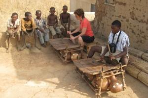 An audience of Ghanaian children